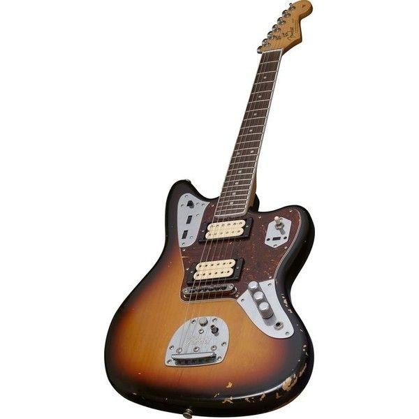 Fender Kurt Cobain Signature Jaguar Electric Guitar 3 Color Sunburst ❤ liked on Polyvore featuring fillers, music, guitars, instruments and fillers - brown
