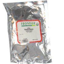 Cell Dara - Frontier Bulk Vanilla Bourbon Beans Whole, CERTIFIED ORGANIC, 1/4 lb. package