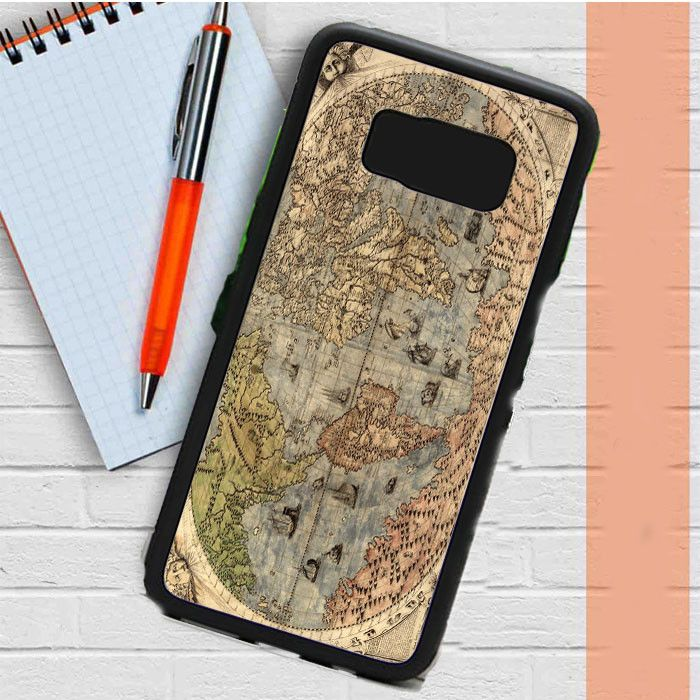 Old Retro World Map Samsung Galaxy S8 Plus Case Casefreed
