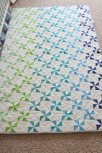 Pinwheels child's quilt - love love this!
