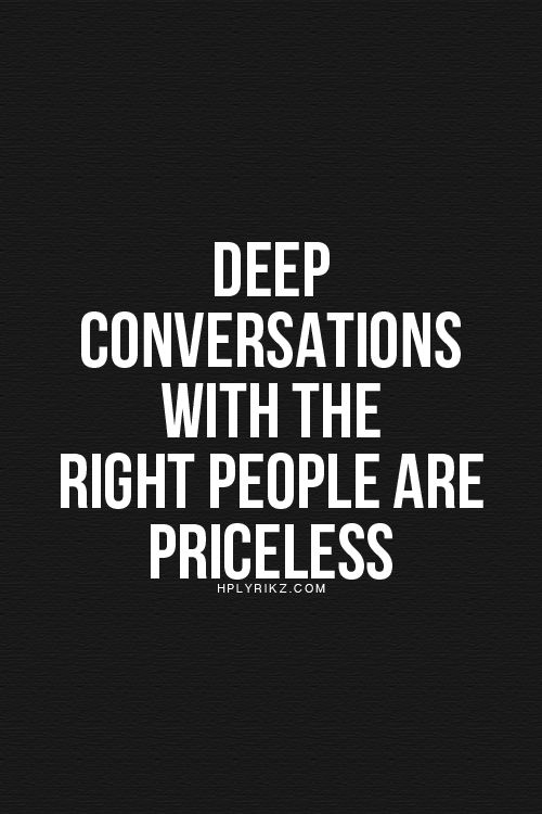 ⭐How how I love this!! Indeed, indeed. So true. Love my people who are willing to talk deep.