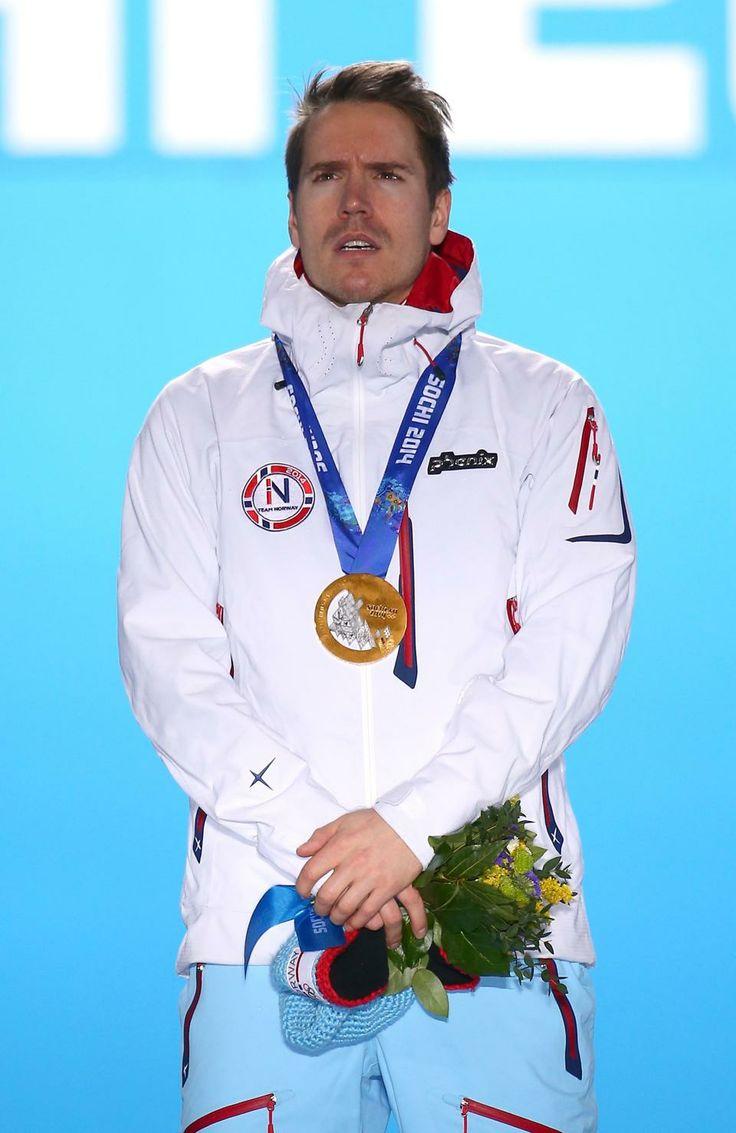 BIATHLON MEN'S 15km MASS START:  Gold medalist Emil Hegle Svendsen of Norway