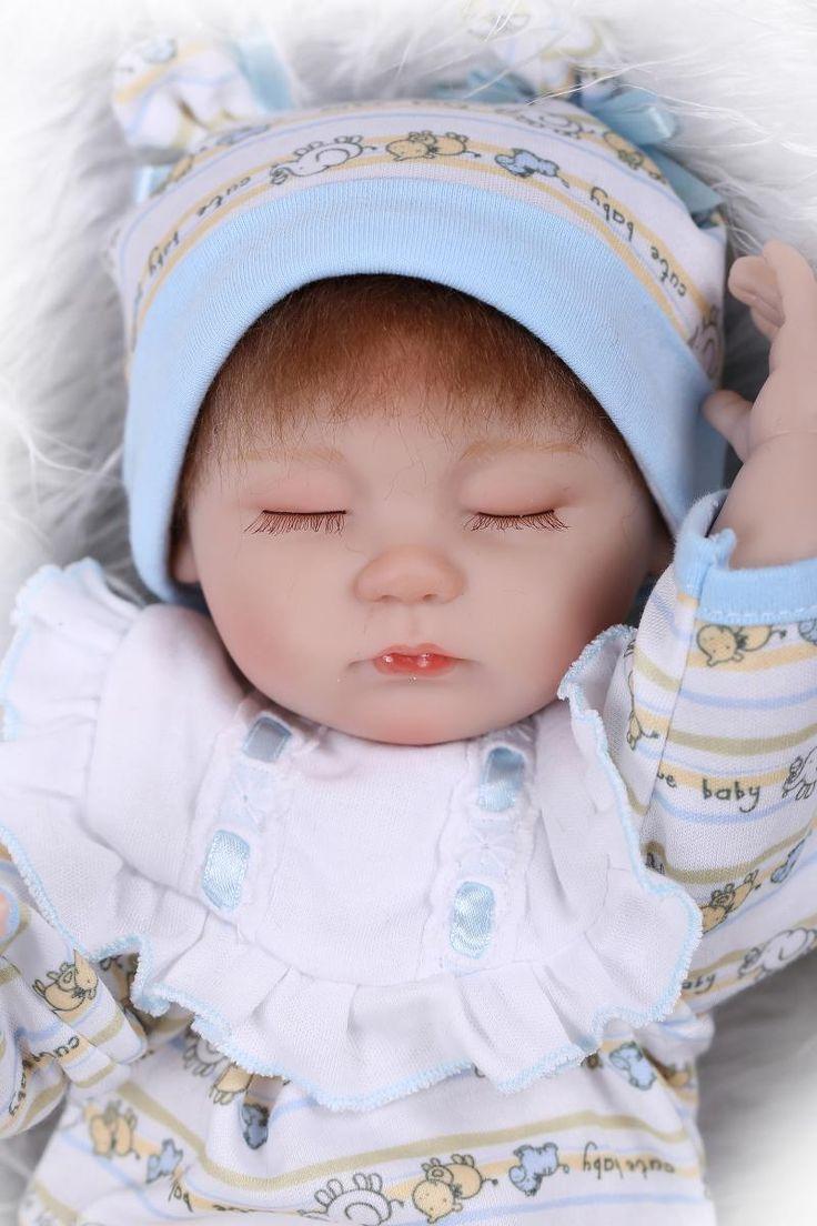 43CM reborn babies doll toys silicone newborn baby bonecas girls bebe toys #Affiliate