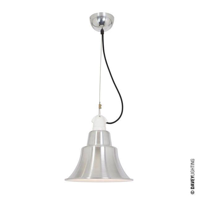 Zoe Pendant Light Aluminium 7245 AL By The UKs Davey Lighting Retropendantlight