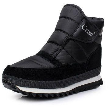 Big Size Nylon Tarps Hook Loop Warm Fur Lining Non-slip Snow Boots For Men