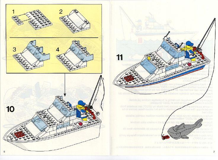 Old Lego Instructions Letsbuilditagain Com Lego Cabin Cruiser Lego Boat