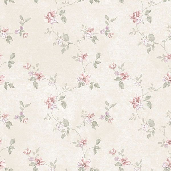 Pretty floral trail wallpaper. Vintage Damasks Collection by Galerie - G34160