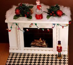 Tutorial - How to make a fireplace for your American Girl Doll or other 18 inch doll