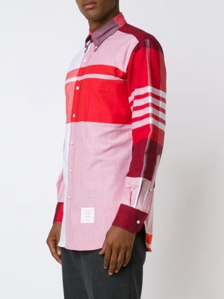 Red+cotton+striped+shirt++from+Thom+Browne. http://rfbd.cm/rpb3650a22