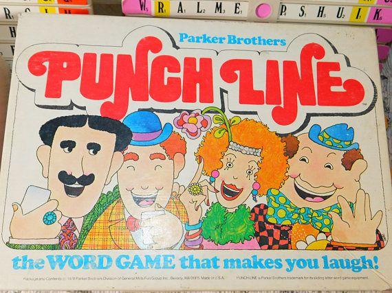 Punch Line Parker Brothers Game 1978 Vintage Board Game