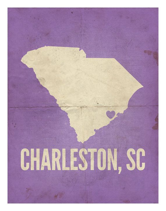 "Charleston, South Carolina Love Print, 11"" x 14"". $32.99, via Etsy."