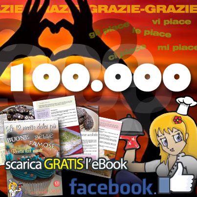 Per festeggiare i 100.000 #fan sulla #fanpage di #Facebook, abbiamo pensato di regalarvi la nostra prima raccolta formata da 12 ricette dolcissime!!  Per scaricare l'eBook basta andare su...  www.ricettelastminute.com/ebook  ...e seguire le semplici istruzioni!  #ebook love #food #ricetta #ricette #social #italia #italy