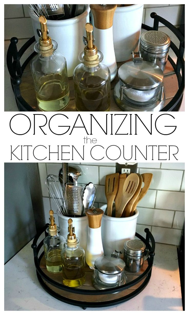 Bathroom storage ideas under sink - Organizing The Kitchen Counter
