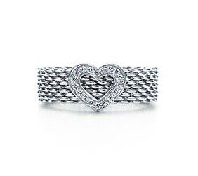 Tiffany & Co Outlet Somerset Heart Diamond Ring