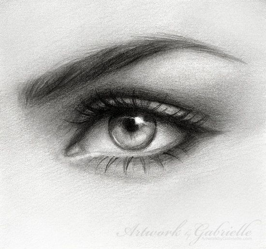 Eye drawing Original hand made pencil art by ArtworkbyGabrielle, $50.00