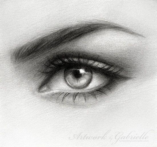 Eye drawing Original hand made pencil art by ArtworkbyGabrielle, $50.00