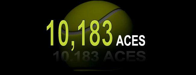 El tenista croata ganador de Wimbledon 2001, Goran Ivanisevic de 1.93 mts. de altura tiene el récord de más aces acumulados en la historia del tenis con 10,183.
