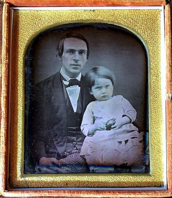 Young Father and Son, 1/6th-Plate Daguerreotype, Circa 1848. Copyright Ann Longmore-Etheridge Collection. | by lisby1