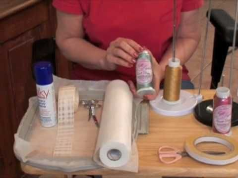 How to Machine Embroider on Ribbon - YouTube