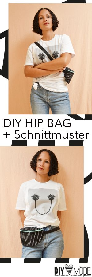 Hip Bag nähen mit Schnittmuster und Video-Anleitung von DIY MODE