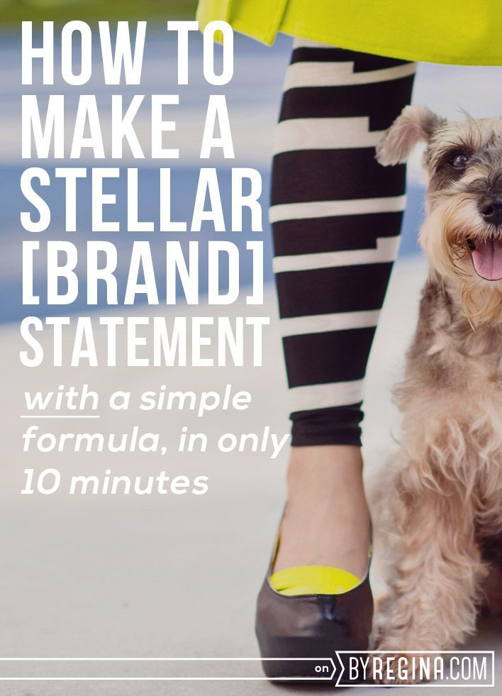 "Your creative business might need a new brand statement, especially if you answer ""So, what do you do?"" in 5 words or less. SO, here's: How to Create a Brand Statement in Only 10 Minutes (with a formula!)"