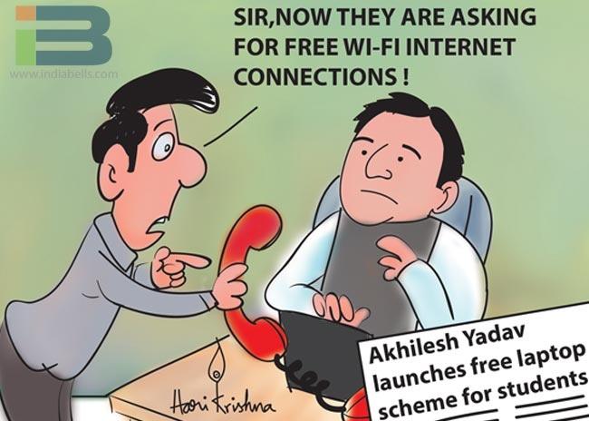 Free Laptop scheme Cartoon