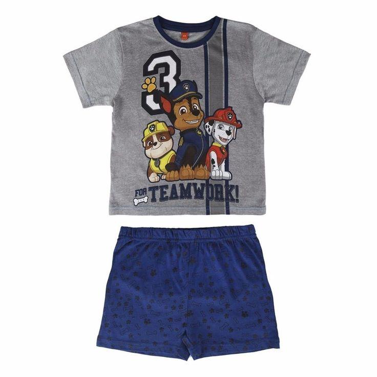 Trolls shortama blauw  Blauwe Paw Patrol korte pyjama jongens. Deze pyjama met korte broek en t-shirt heeft een opdruk van Poppy Paw Patrol. Deze pyjama is gemaakt van 100% katoen.  EUR 13.95  Meer informatie