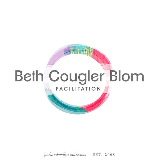 Beth Cougler Blom Facilitation Logo Design with painted circle
