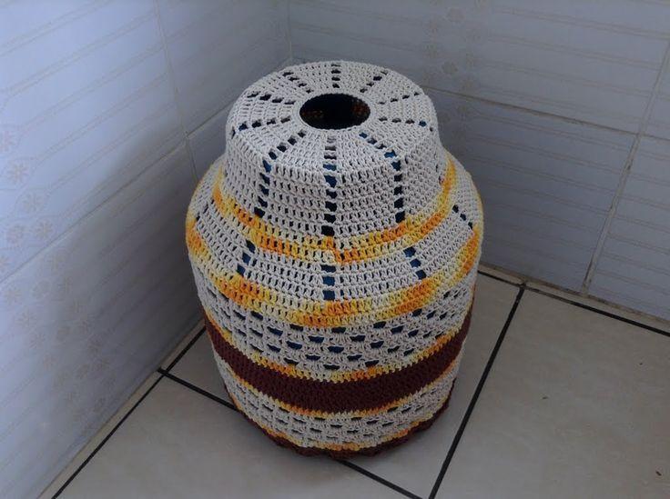 Capa para Botijão de Gás em Crochê # Luiza de Lugh