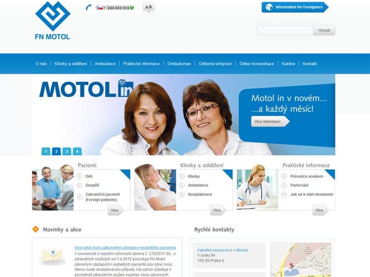 Fakultní nemocnice v Motole: http://bit.ly/I6HkTu #webdesign #web #hospital