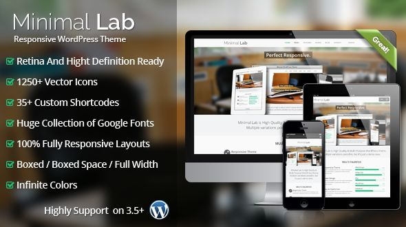 Minimal Lab Ultra Responsive MultiPurpose WordPress Theme