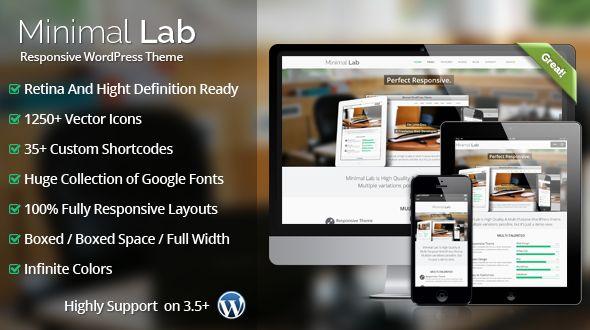 Minimal Lab Ultra Responsive MultiPurpose WordPress Theme