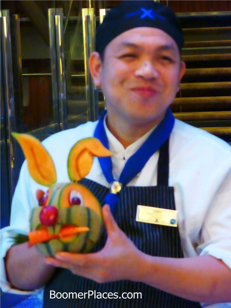 Food Carving on ship