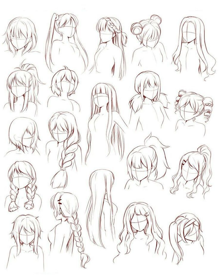 Related Image Manga Hair How To Draw Hair Female Anime Hairstyles