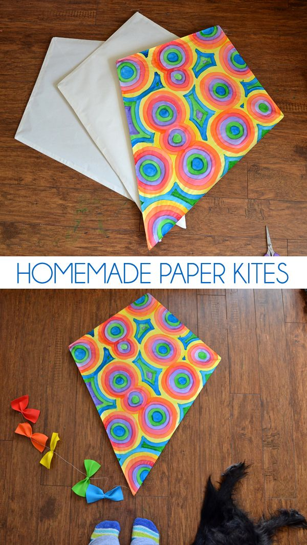 Keep the kiddos busy with these pretty paper kites. Fun to make and won't break the bank!