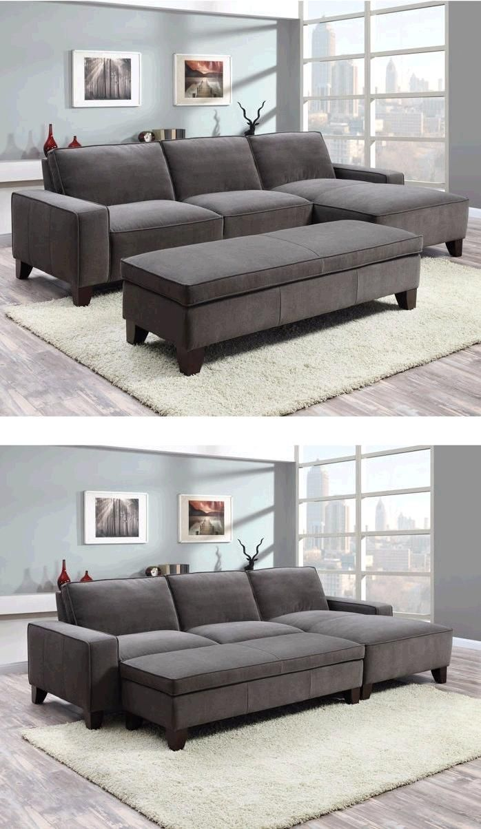The Orion Fabric Chaise Sectional With Ottoman Will Bring