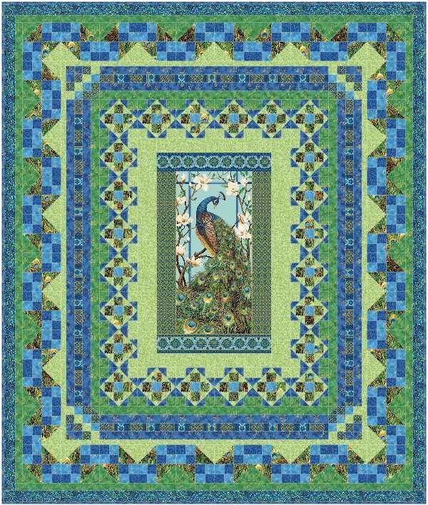 111 Best Quilts With Center Panel Images On Pinterest