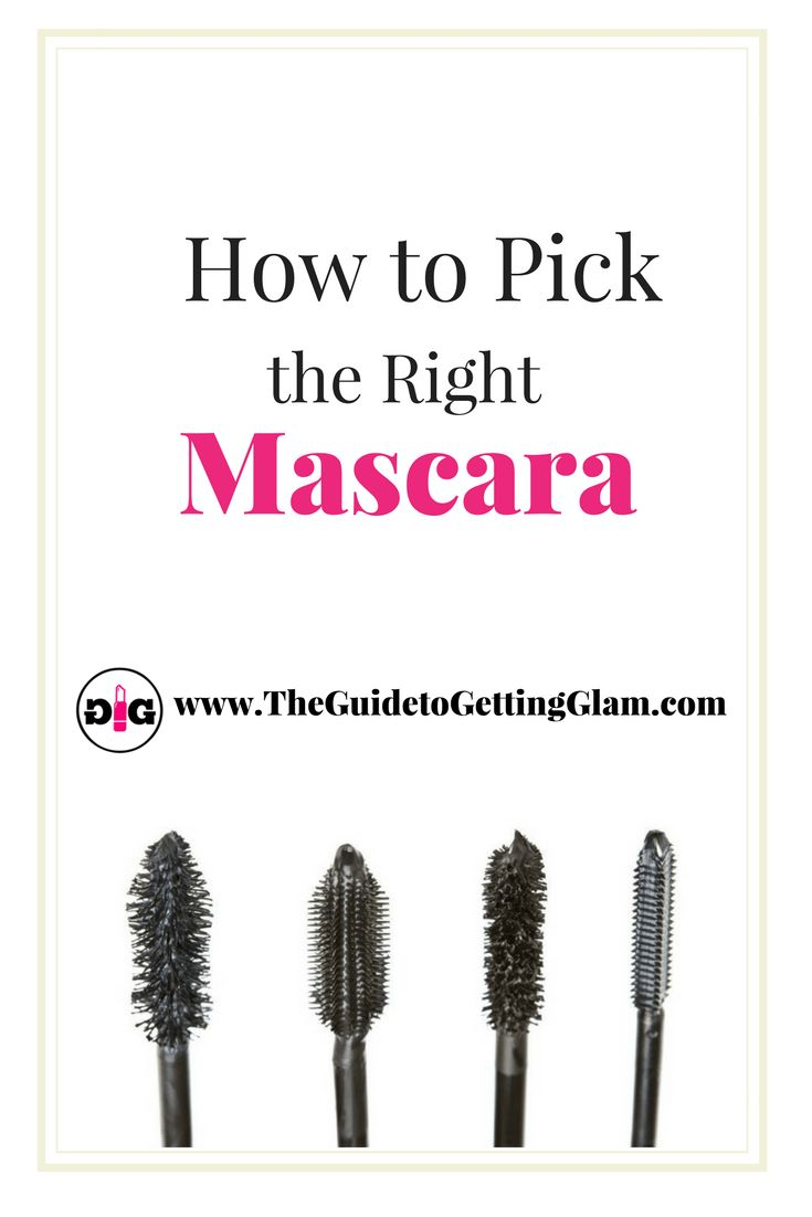 Great makeup artist tips on how to pick the right mascara. Want to know which mascara is best for your eyelash type? Read more to find out great makeup artist tips... #makeup #makeuptip #makeupartist #mascara #glam #theguidetogettingglam