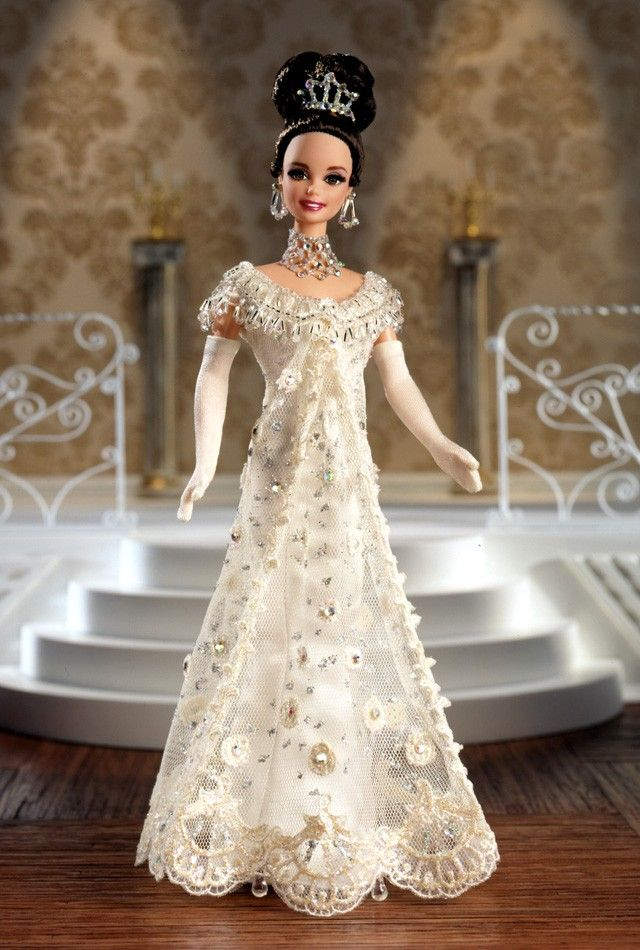 Barbie as Eliza Doolittle from My Fair Lady at the Embassy Ball. Hollywood Legends series, 1996.