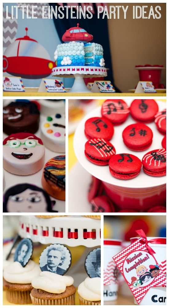 Terrific Little Einsteins party ideas for a boy birthday! See more party ideas at CatchMyParty.com. #littleeinsteins  #partyideas #birthdaycake