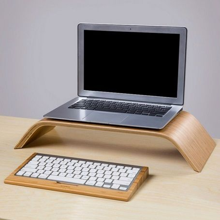 Bamboo Keyboard Stand for Mac & PC