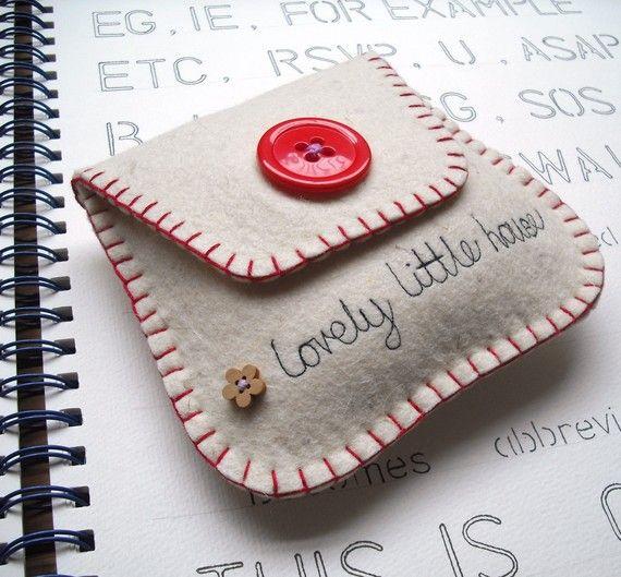 lovely little felt pouch