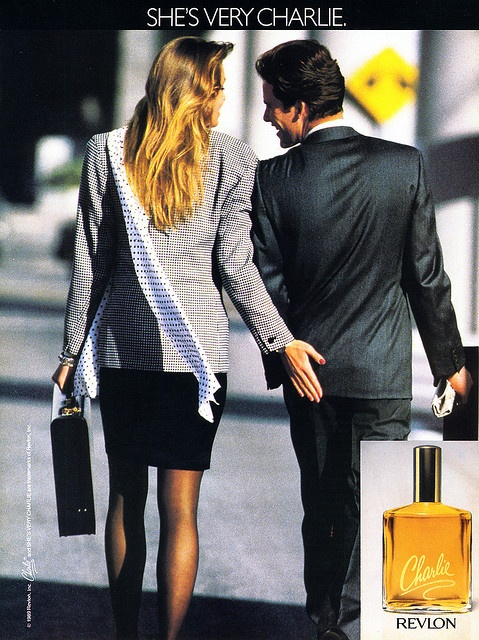 1989 Charlie perfume ad