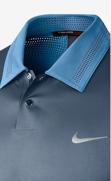Nike golf Fabric: Body: Dri-FIT 87% polyester/13% spandex. Panels: Dri-FIT 79% polyester/21% spandex.