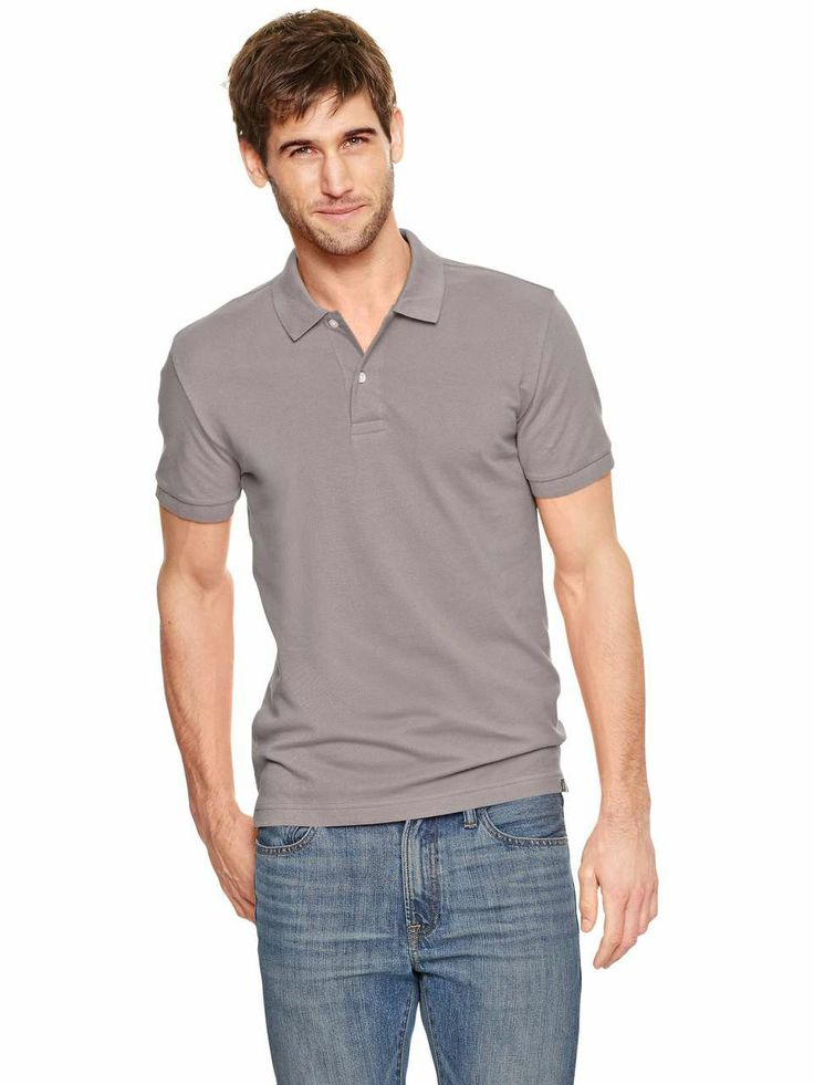 Love the gap modern pique polo on wantering men 39 s tees for Man in polo shirt