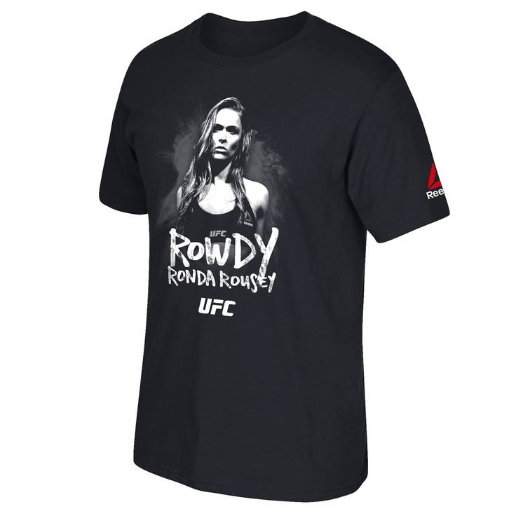 Ronda Rousey UFC Reebok Weigh In Rowdy T-Shirt - Black - $23.99