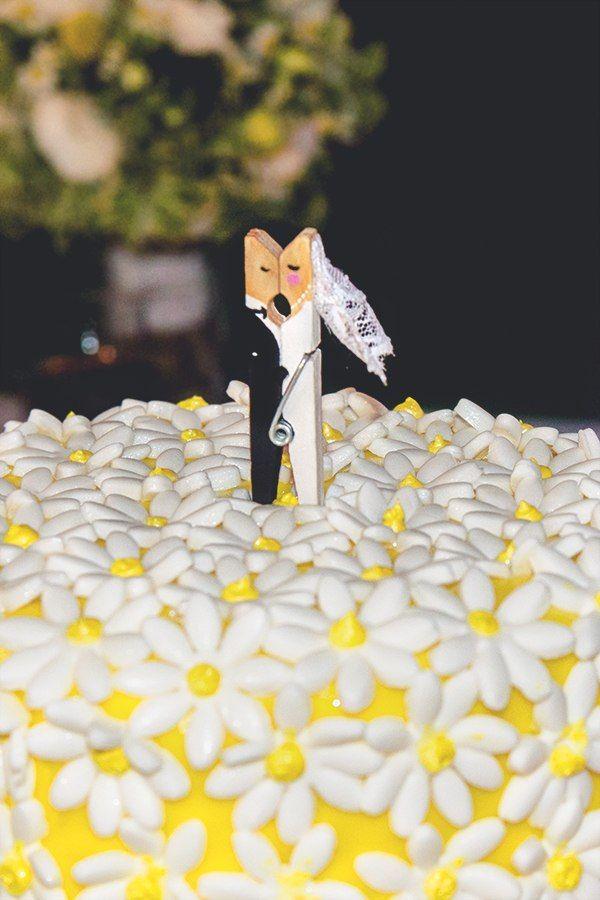 Забавный топпер на свадебный торт