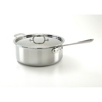 All Clad Stainless Steel 6-Quart Deep Saute Pan with Lid by All Clad. $189.95. Exterior compatible on all induction as well as traditional cooktops. Dishwasher-safe; Hand-washing recommended. Essential cookware item for the novice or well-seasoned cook. 3-Ply bonded construction. Perfect bridal or housewarming gift. This All Clad 18/10 stainless steel aluminum core 6-Quart Deep Saute Pan is perfect to sear, saute, pan-roast, braise and prepare flavorful pan sauces and gr...