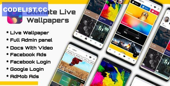 Ultimate Live Wallpapers Application Gif Video Image V2 0 In 2021 Live Wallpapers Wallpaper App App Template