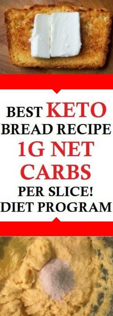 BEST KETO BREAD RECIPE   1G NET CARBS PER SLICE! DIET PROGRAM